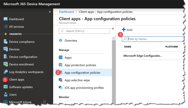 Intune MAM and Outlook settings - 01