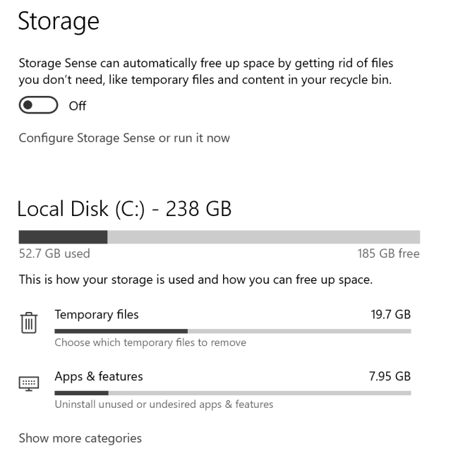 How to configure Windows 10 Storage Sense – Mobile-First Cloud-First