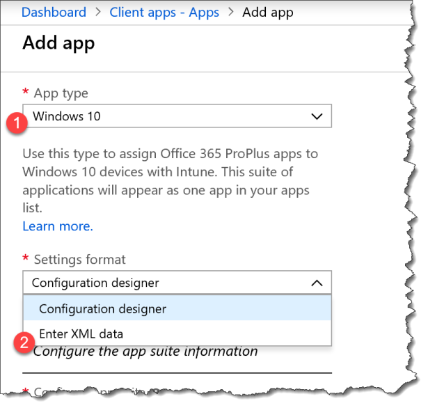 Deploy O365 - Custom xml with Intune - 02