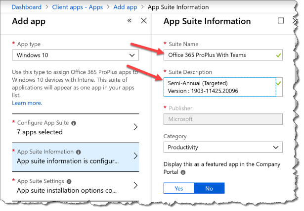 Deploy O365 ProPlus With Teams from Intune - 21