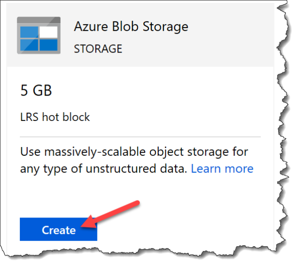 Create Free Azure Blob Storage - 01