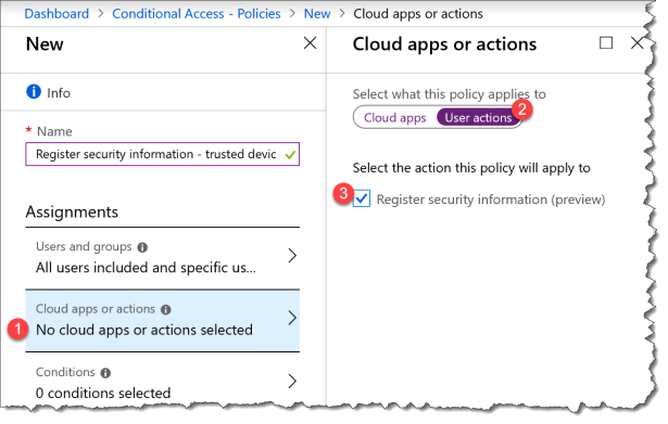 Register security information only on trusted devices with Azure AD