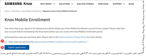 How to setup Samsung KNOX to enroll in Intune with Android for