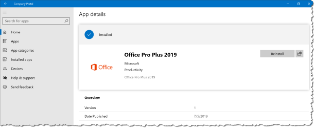 Office 2019 Intune - Uuser Expirence 2