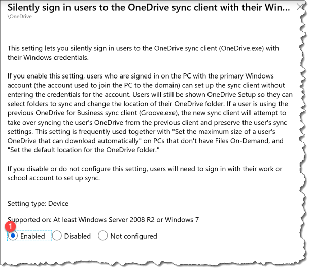 How to use ADMX based OneDrive policy in Intune for Known Folder