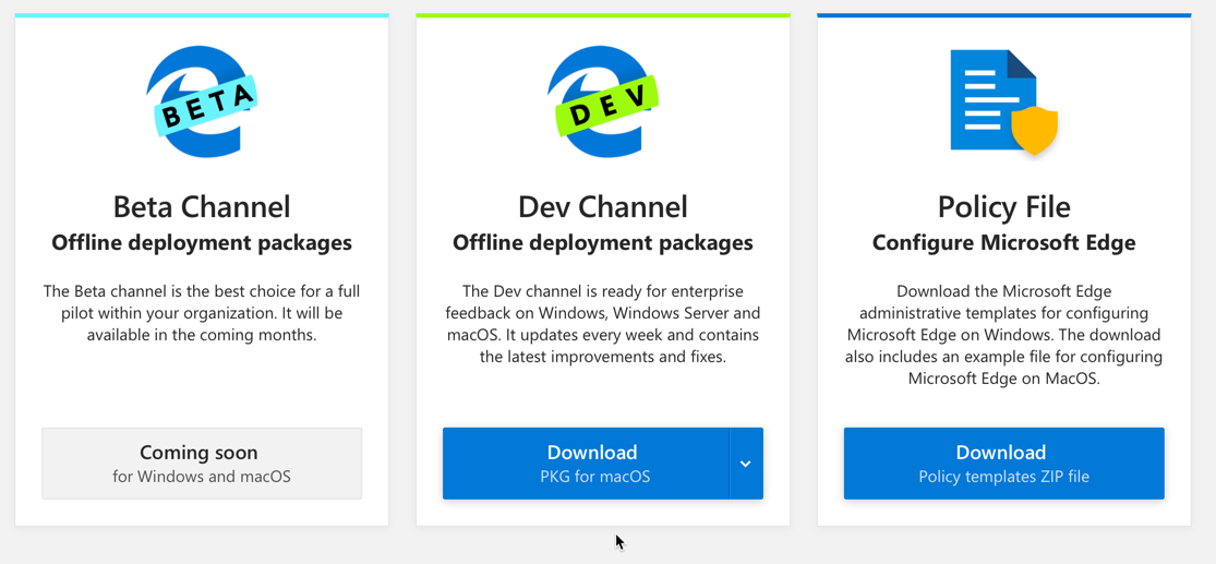 Deploy Microsoft Edge Dev for Business for Mac with Intune – Mobile