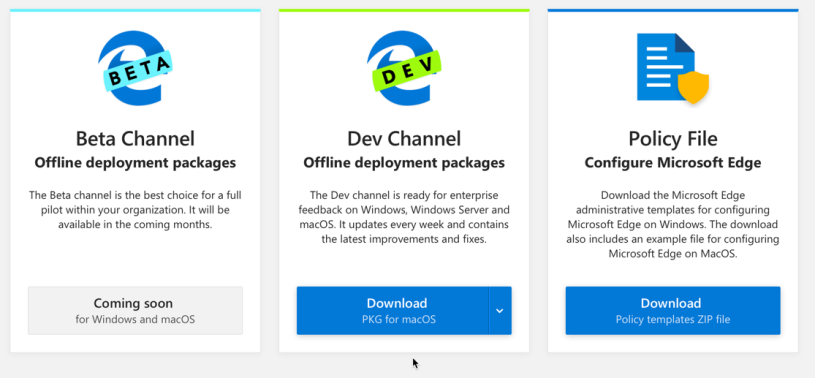 Deploy Microsoft Edge Dev for Business for Mac with Intune