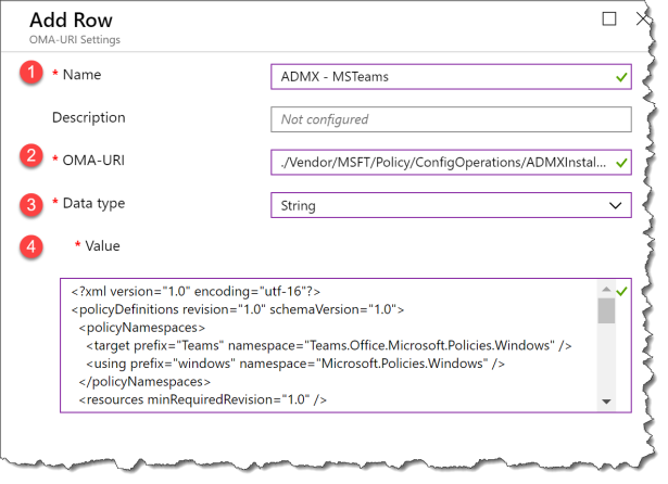 Teams policy with Intune - 04