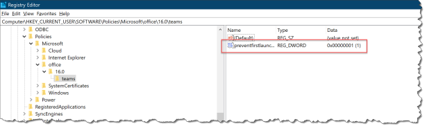 Teams policy with Intune - 06