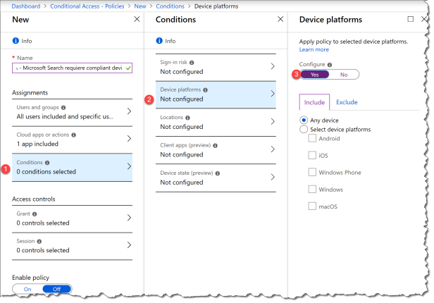 Conditional Access - Microsoft Search - 05