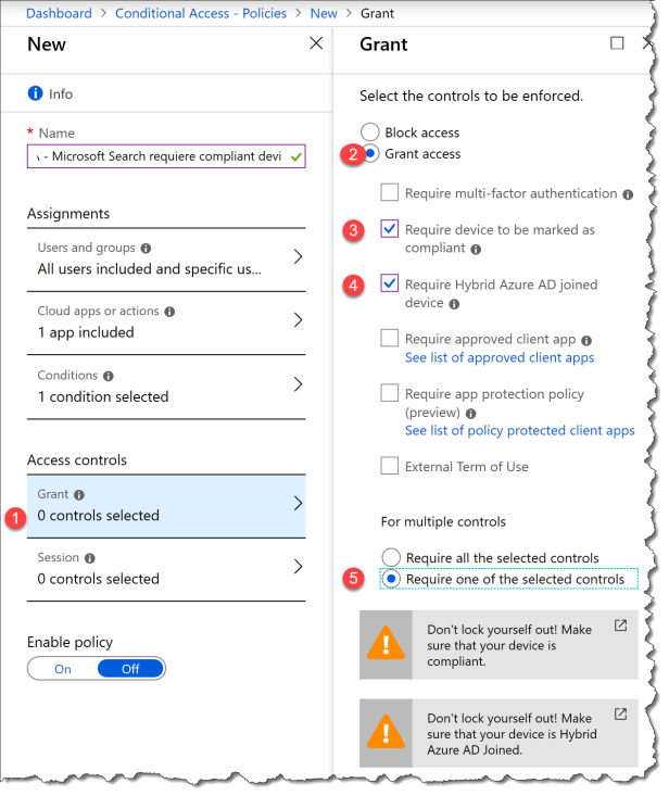 Conditional Access - Microsoft Search - 06