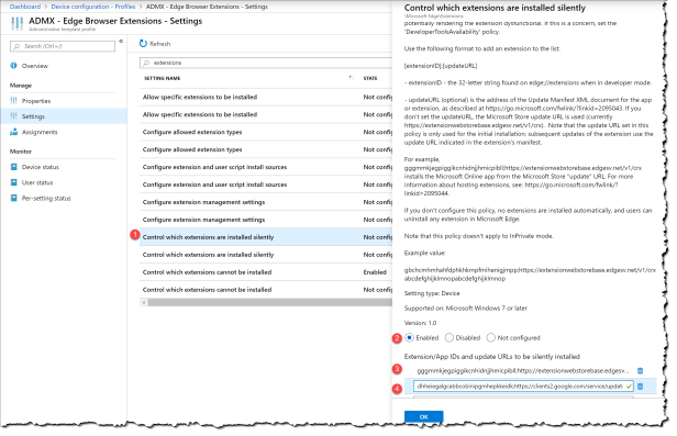 Mange Edge browser extensions with Intune - 14