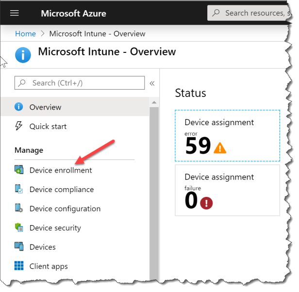Mobile Device Management authority in Microsoft Intune - 02a