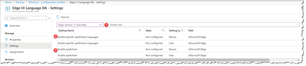 Change UI language Edge from Intune - 06