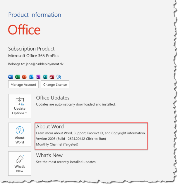 Change Offie 365 Channel from Intune - 01