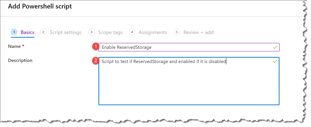 Enable ReservedStorage from Intune - 02